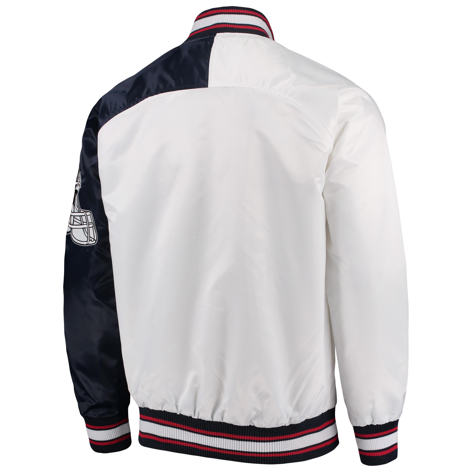 separation shoes 4b624 5cbf3 New York Giants Starter Start of Season Retro Satin Full-Button Varsity  Jacket - White