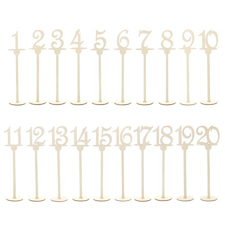 7Penn Table Number Centerpiece Set of 1-20 for Events and Weddings ()