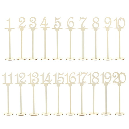 7Penn Table Number Centerpiece Set of 1-20 for Events and Weddings