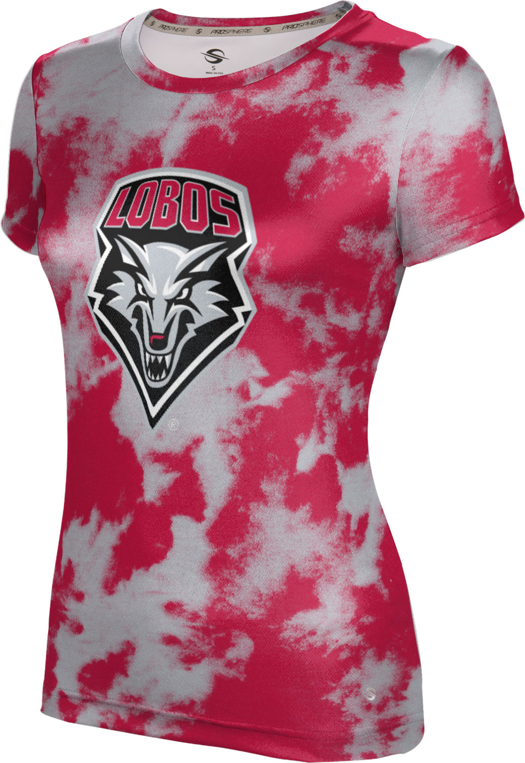 ProSphere Girls' The University of New Mexico Grunge Tech Tee