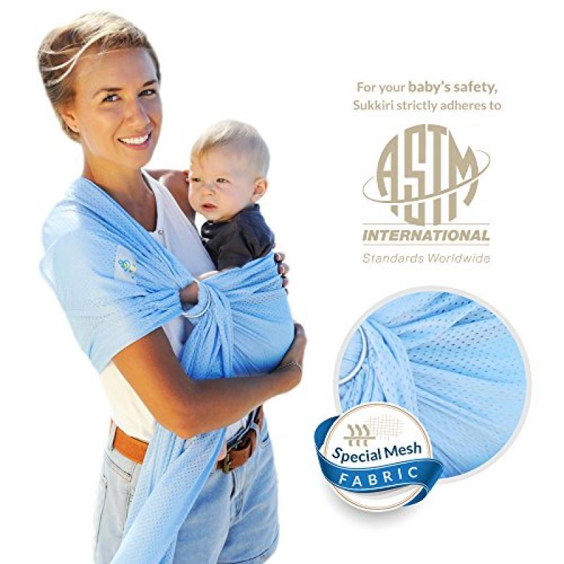 Lucky Baby Ring Sling with Breathable, Quick-Dry Mesh Fab...