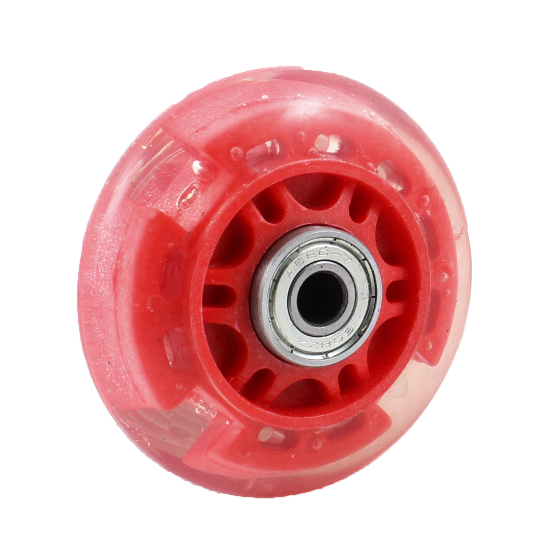 "Patinage chaussures 2.76"" dia 608ZZ support clair rouge plastique patin roue"