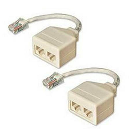 Cat5 Splitter - IC Network 120 6513 Network Pair Splitter, 10base-t, Cat5, 2 Pack