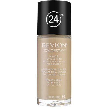 Revlon Colorstay for Combo/Oily Skin Makeup, Sand Beige [180] 1 oz - Halloween Makeup For Black Skin