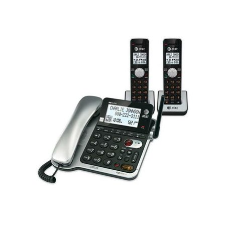 Att ATTCL84202 Handset Corded Two Cordless Answering System With Caller ID & Call Waiting - image 1 de 1