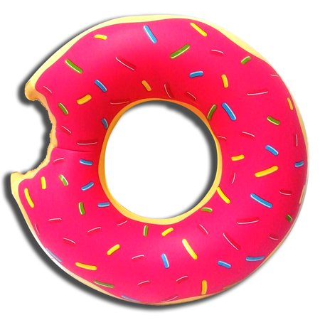 47 Inflatable Giant Donut Swimming Tube Rings Pool