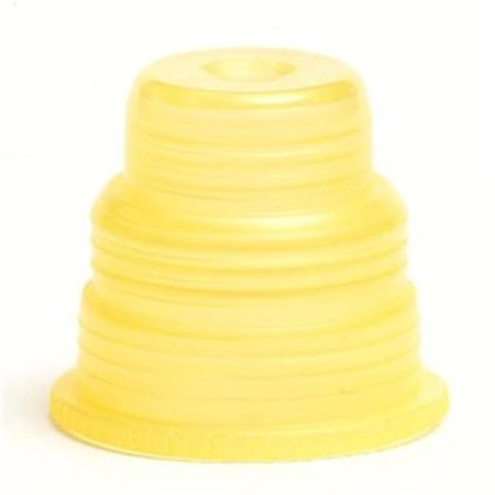Bio Plas 8380 Hexa Flex Safety Caps For 10Mm  44  12Mm  44  13Mm  44  16Mm  44  18Mm Tubes 500 Pk   Yellow