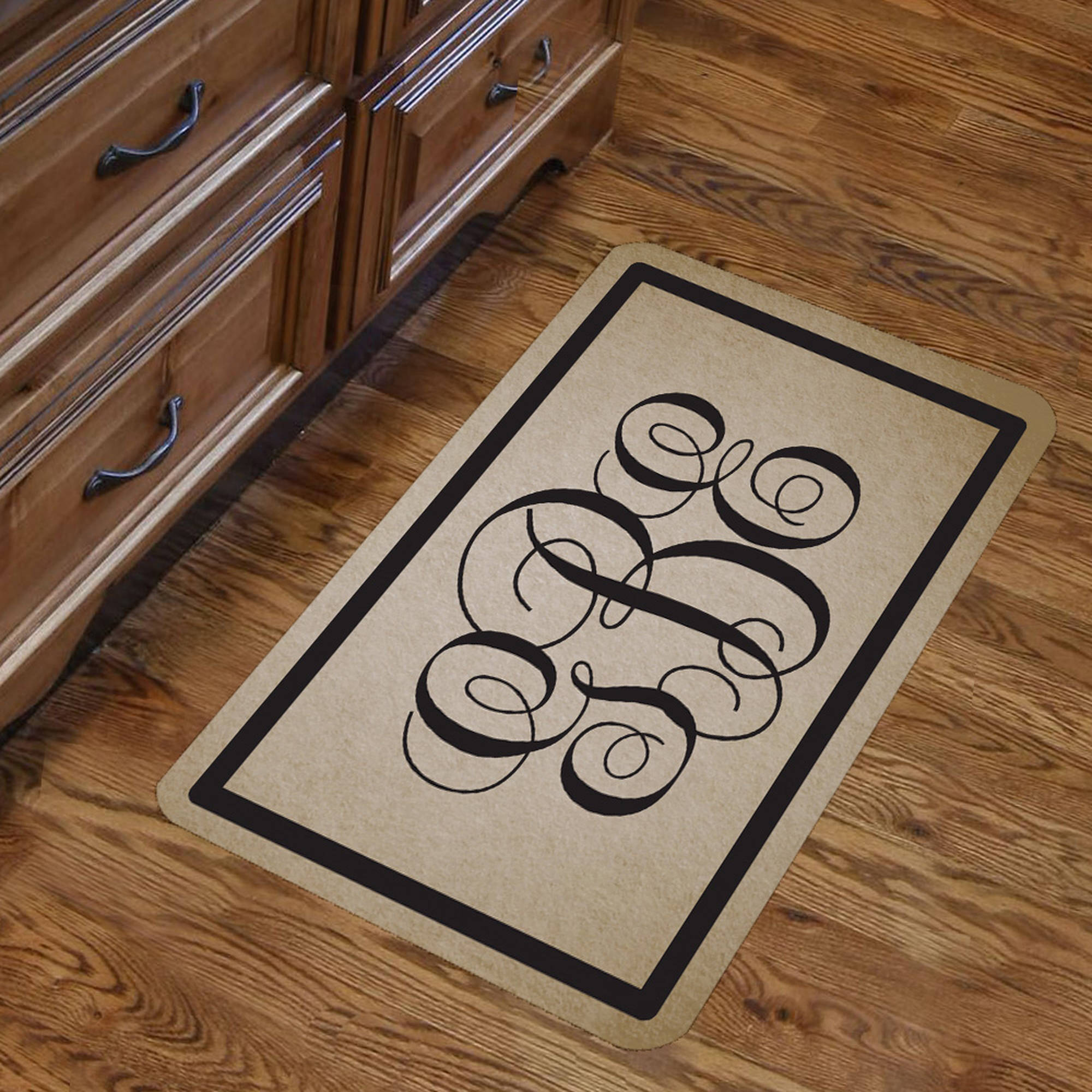 "Monogram Design Floor Mat , 26.5"" x 17.5"""