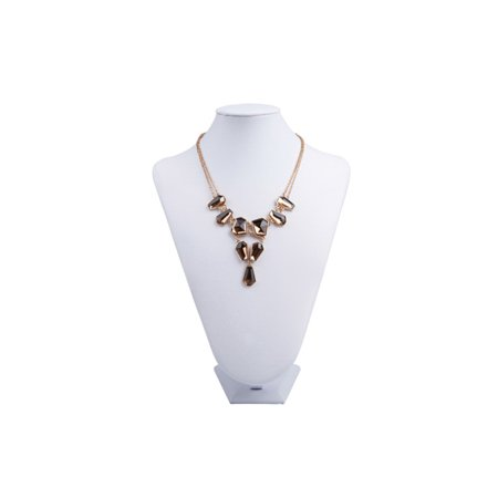 Necklace Display Neck Stand White Leatherette 9.5x13-Inch