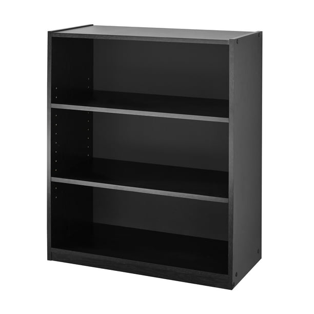 "Mainstays 31"" 3 Shelf Bookcase, Black"