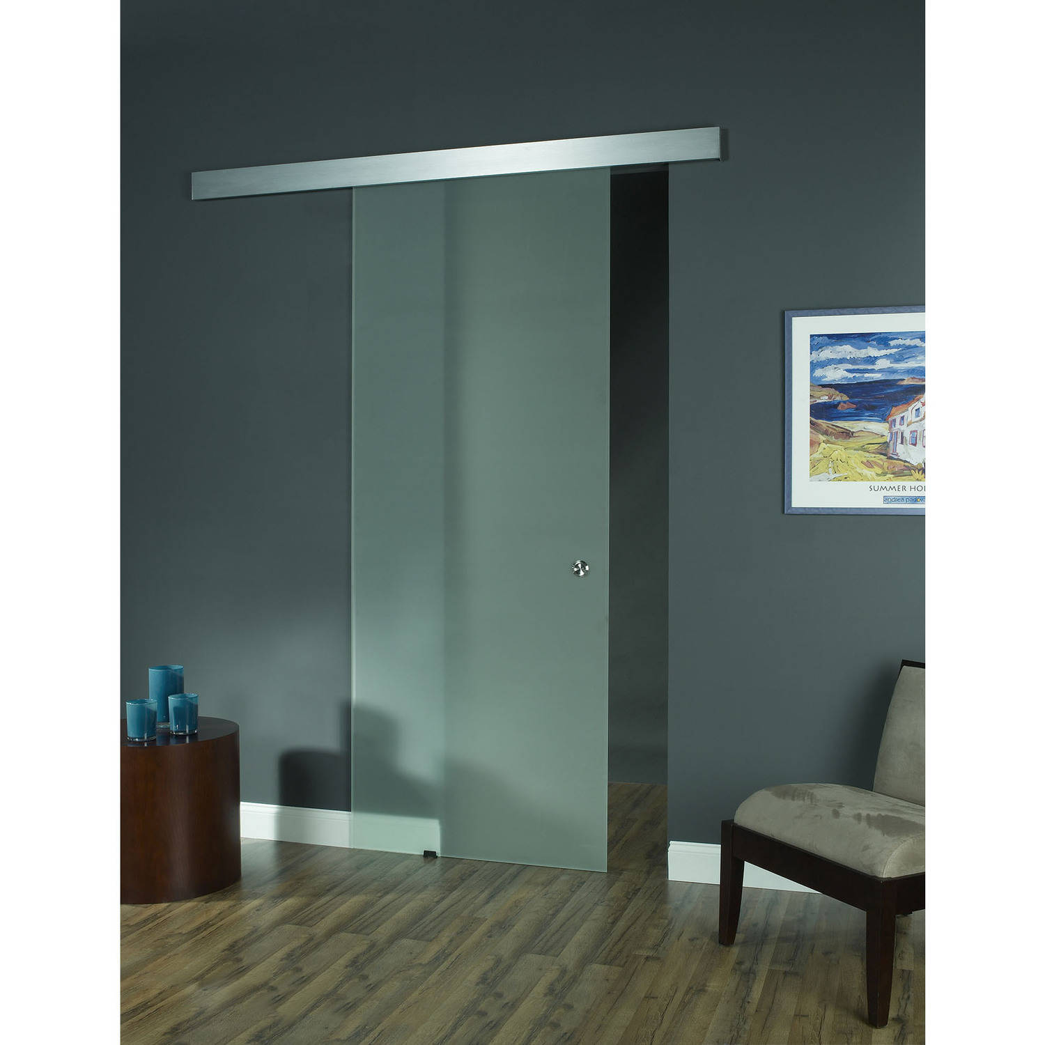 Exterior Glass Barn Doors glass barn door, opaque - walmart
