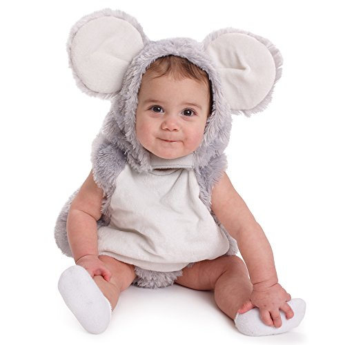 Dress up America Infant Squeaky Mouse Halloween Pretend Play Costume - 0-6 Months
