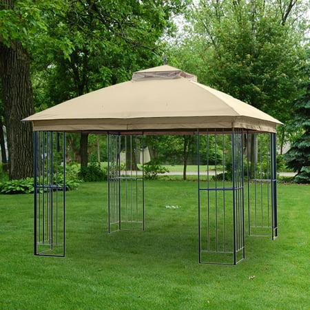 Garden Winds Replacement Canopy for the Garden Treasures Steel Finial Gazebo, RipLock