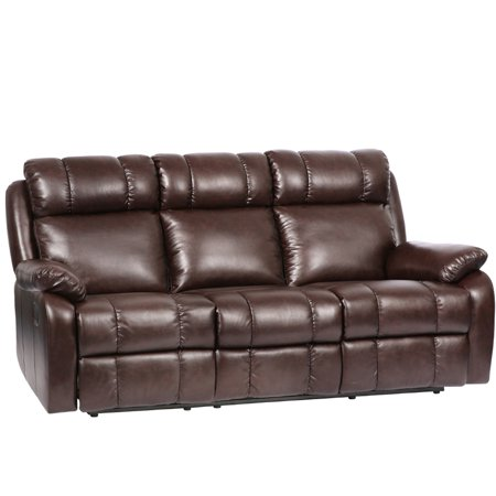 Recliner Sofa Chaise Reclining Couch Recliner Sofa Chair Leather Accent Chair -