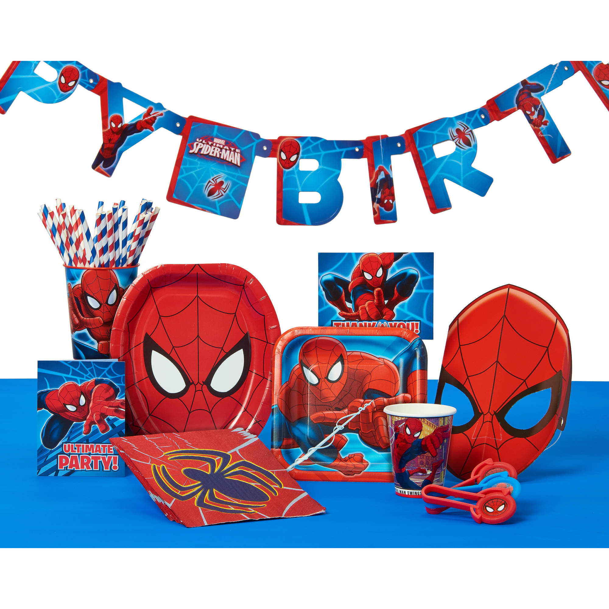 Spider Man Invite And Thank You Combo 8 Pack Party Supplies