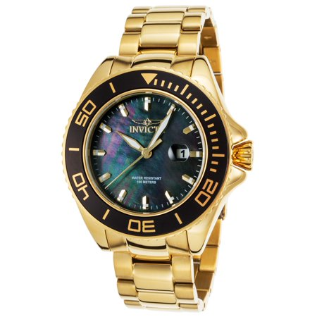 23072 Men's Pro Diver 18K Gold Plated Ss Black Mother Of Pearl Dial (Best Deal On Aimpoint Pro)