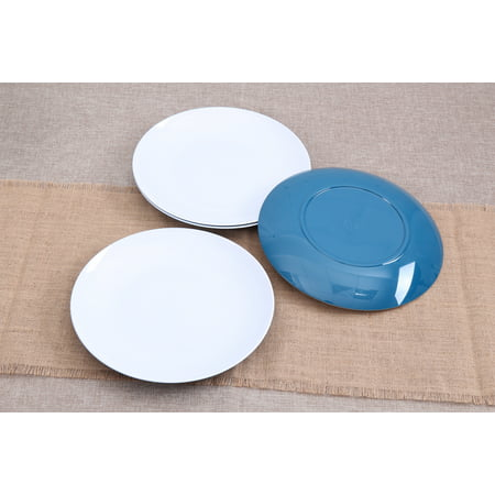 Mainstays Melamine Mix and Match 4-Pack Dinner Plates, Blue