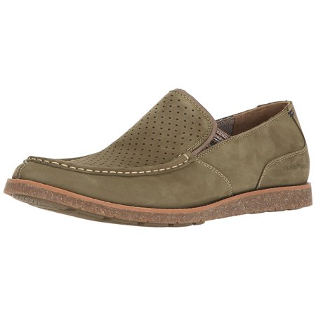 Hush Puppies Slingback (Hush Puppies Men's lorens Jester Slip-On Loafer, Olive Nubuck, 10.5 W)
