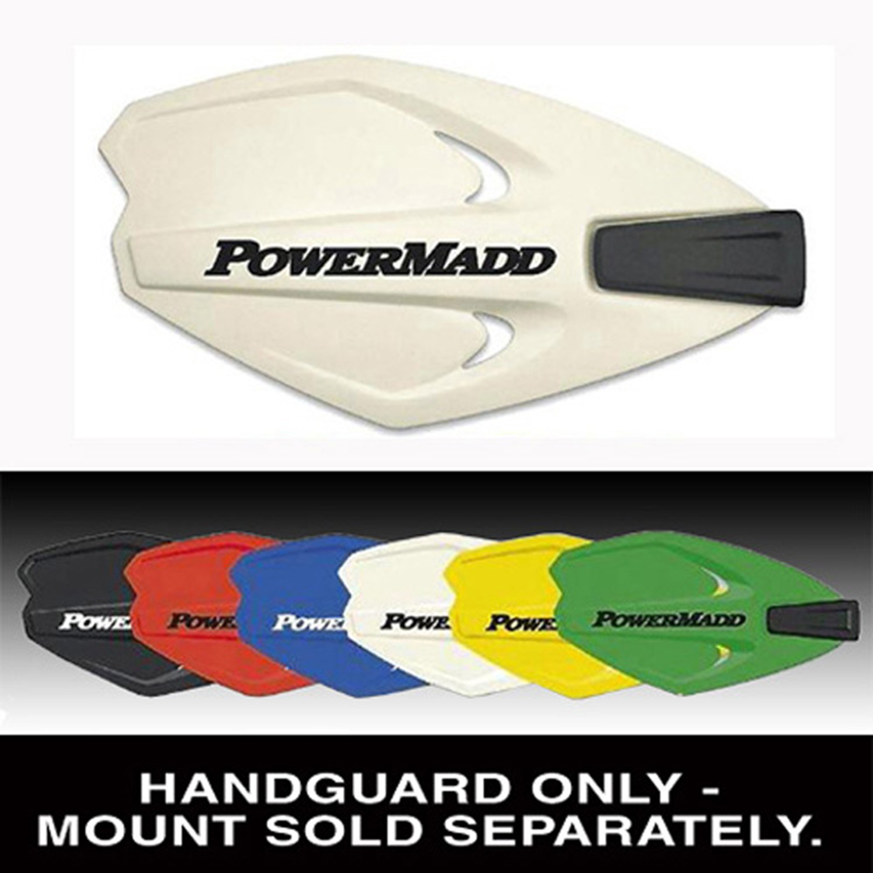 POWERMADD POWER X SERIES HANDGUARDS WHITE/NO MOUNT