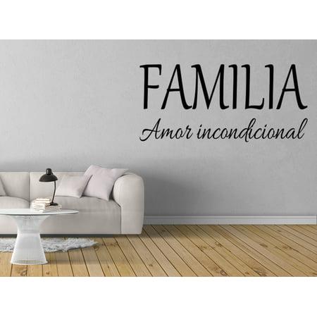 Vinilo Decorativo Para Pared Familia Amor Incondicional Wall Stickers Decal SQ27