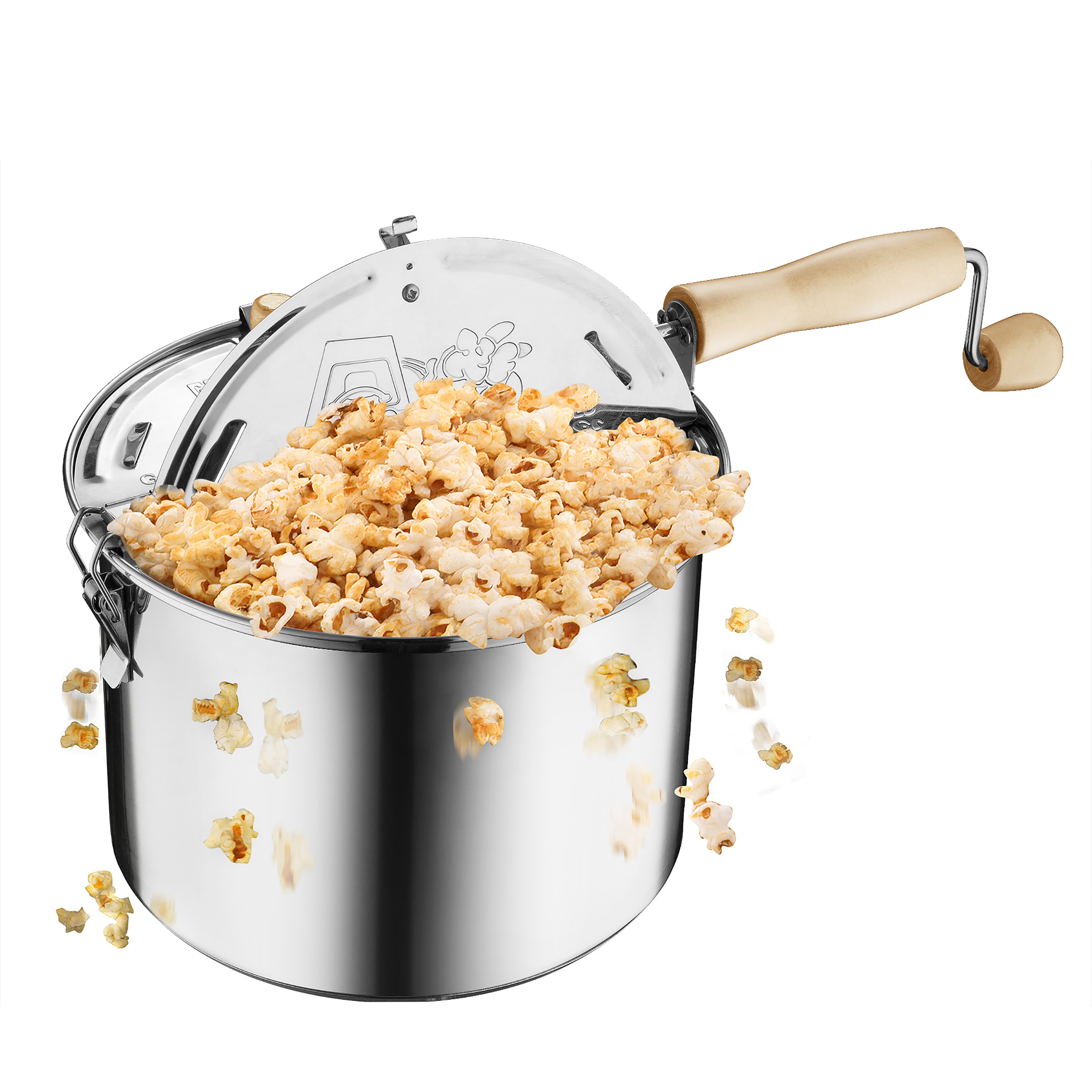 Original Stainless Steel Stove Top 6 1/2 Quart Popcorn Popper by Great Northern Popcorn