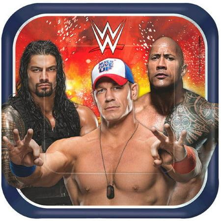 Wwe Themes (WWE Wrestling Bash Large Paper Plates)