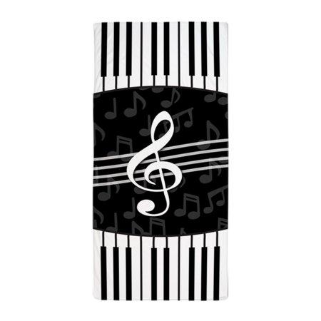 CafePress - Stylish Designer Piano And Music Notes - Large Beach Towel,  Soft 30