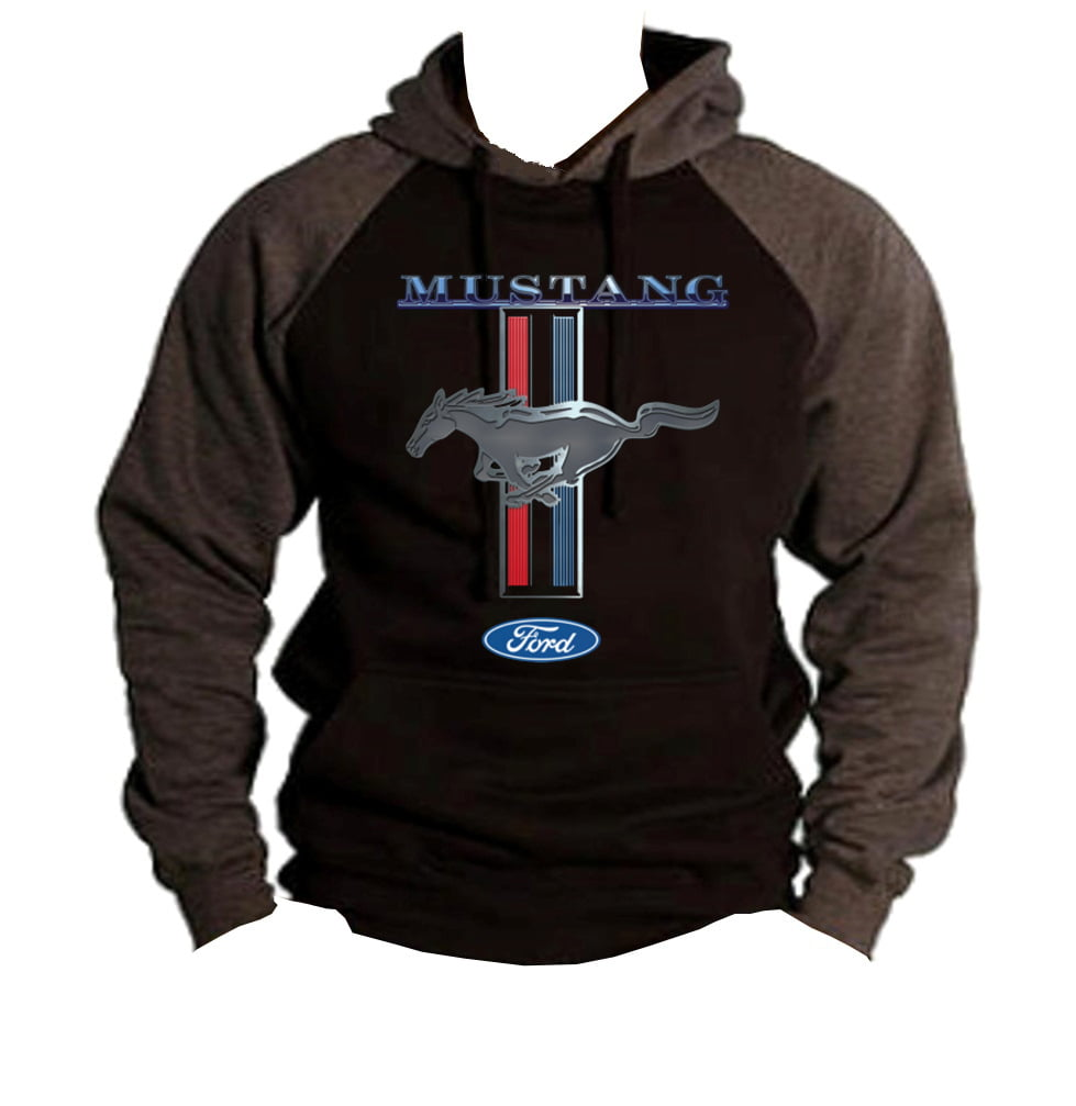 JH DESIGN GROUP Mens Ford Mustang Pullover Hoodie a Logo Sweatshirt