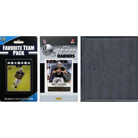 C&I Collectibles NFL Oakland Raiders Licensed 2014 Score Team Set and Favorite Player Trading Card Pack Plus Storage Album O/S