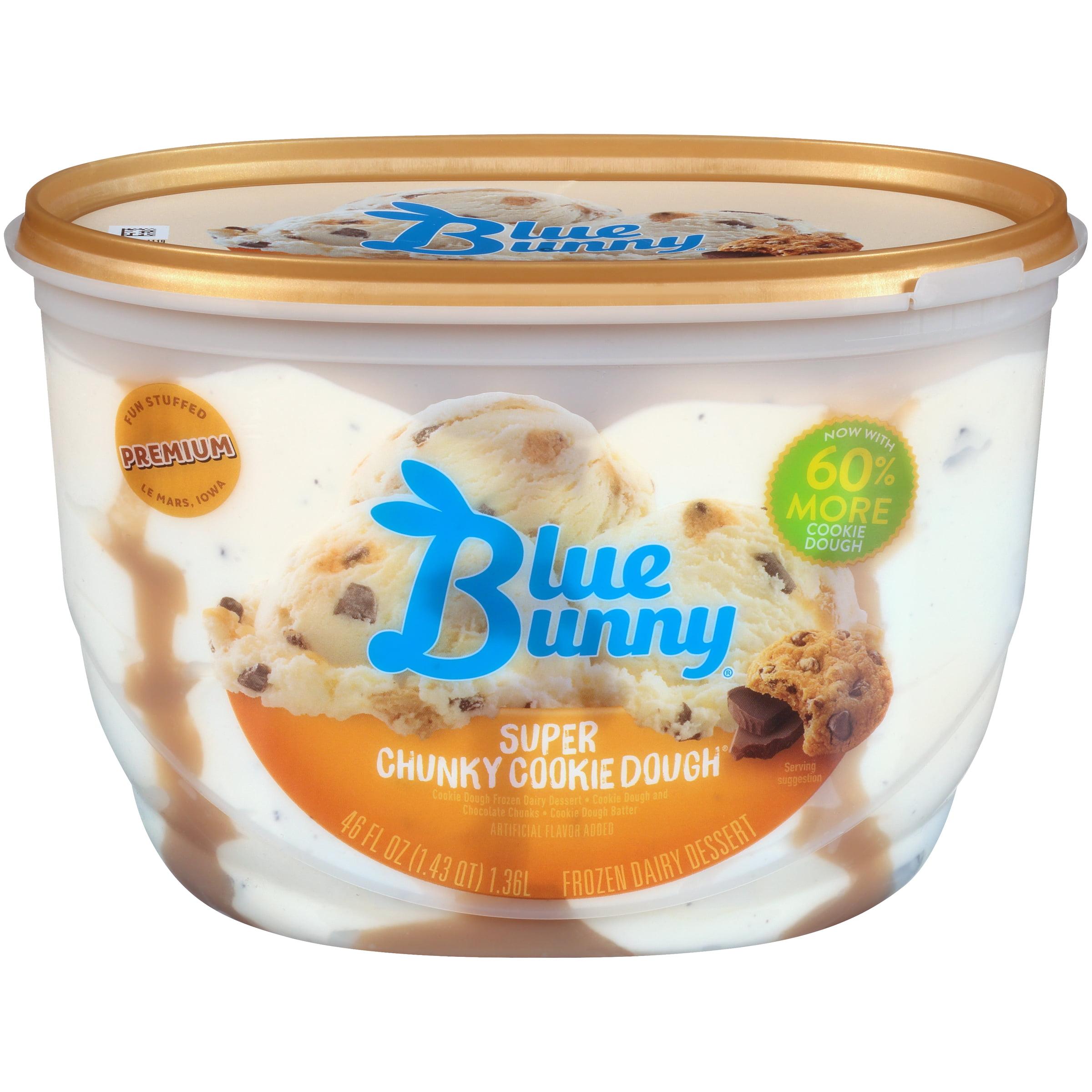 Pleasing Blue Bunny Super Chunky Cookie Dough Walmart Com Walmart Com Funny Birthday Cards Online Inifodamsfinfo