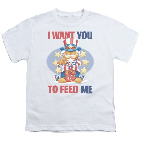 Garfield/I Want You   S/S Youth 18/1   White     Gar401