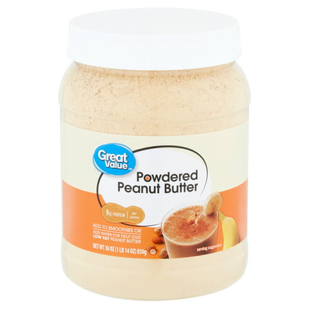 Great Value Powdered Peanut Butter, 30 oz Reduced Fat Peanut Butter