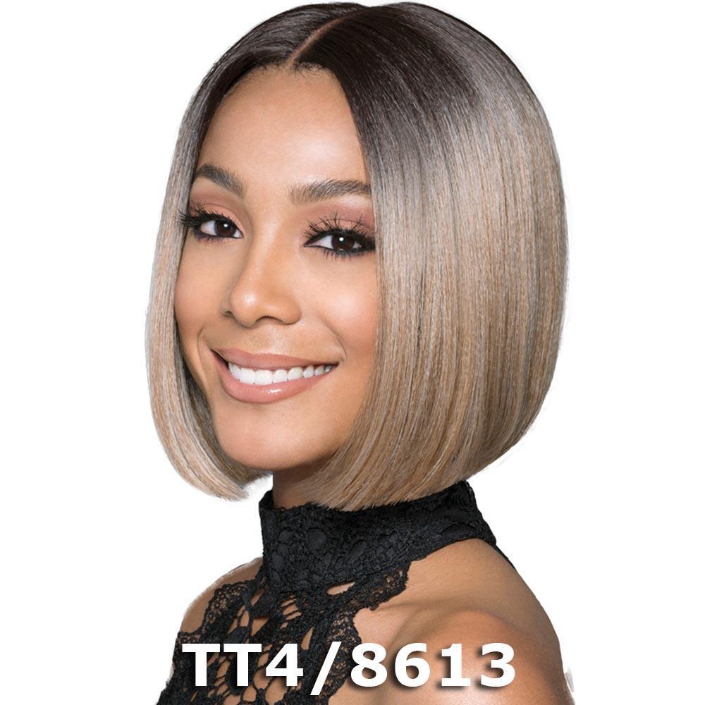 """BobbiBoss 5"""" Deep Part Swiss Lace Front Wig - MLF217 LYNA SLEEK (TT1B/DTEAL)"""