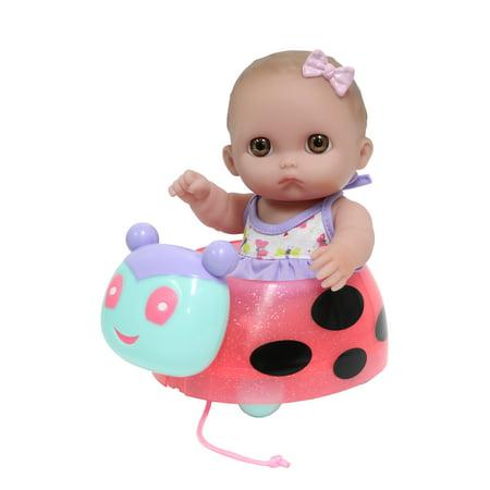 JC Toys Lil' Cutesies Ladybug Pull-Along Set - 8.5