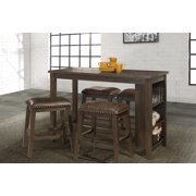 Hillsdale Furniture Spencer 5-Piece Counter Height Dining Set with Backless Counter Height Stools