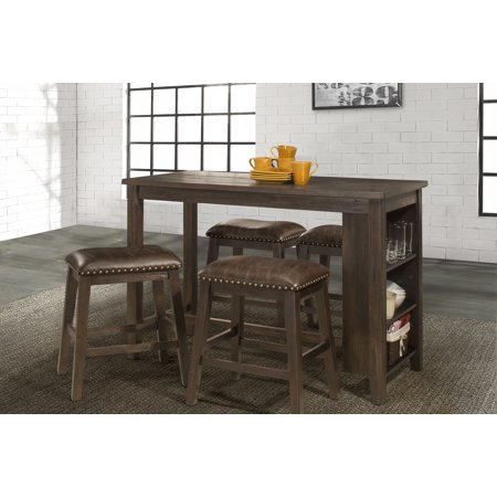 Hillsdale Furniture Spencer 5 Piece Counter Height Dining Set with Backless Counter Height Stools