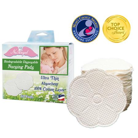 Contoured Disposable Breast Pads - NuAngel Disposable Nursing Pads, 60 ct