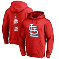 Yadier Molina St. Louis Cardinals Fanatics Branded Backer Pullover Hoodie - Red