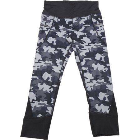 082573bfd5031 Active Life - Active Life Womens Size Small Capri Leggings, Black/Grey Camo  - Walmart.com