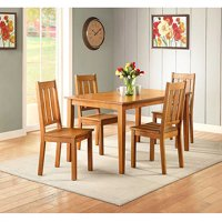 Better Homes and Gardens Bankston 5-Piece Dining Set, Honey