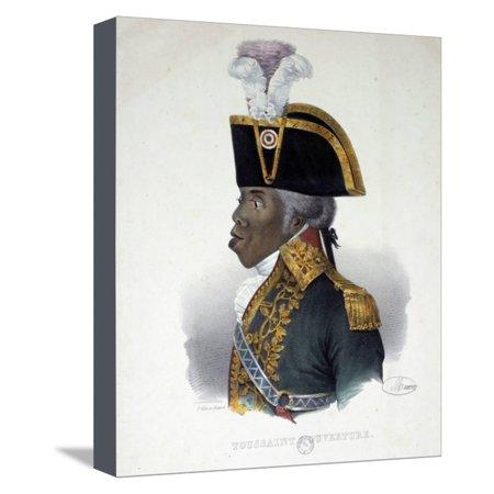Portrait of Haitian Patriot Toussaint Louverture Stretched Canvas Print Wall Art