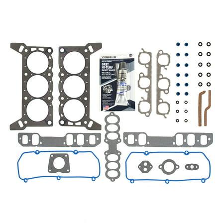 Evergreen HS1810-2 Head Gasket Set Fits 94-95 Ford Lincoln Mercury 3.8 OHV 12V VIN - Ohv Head Gasket Set