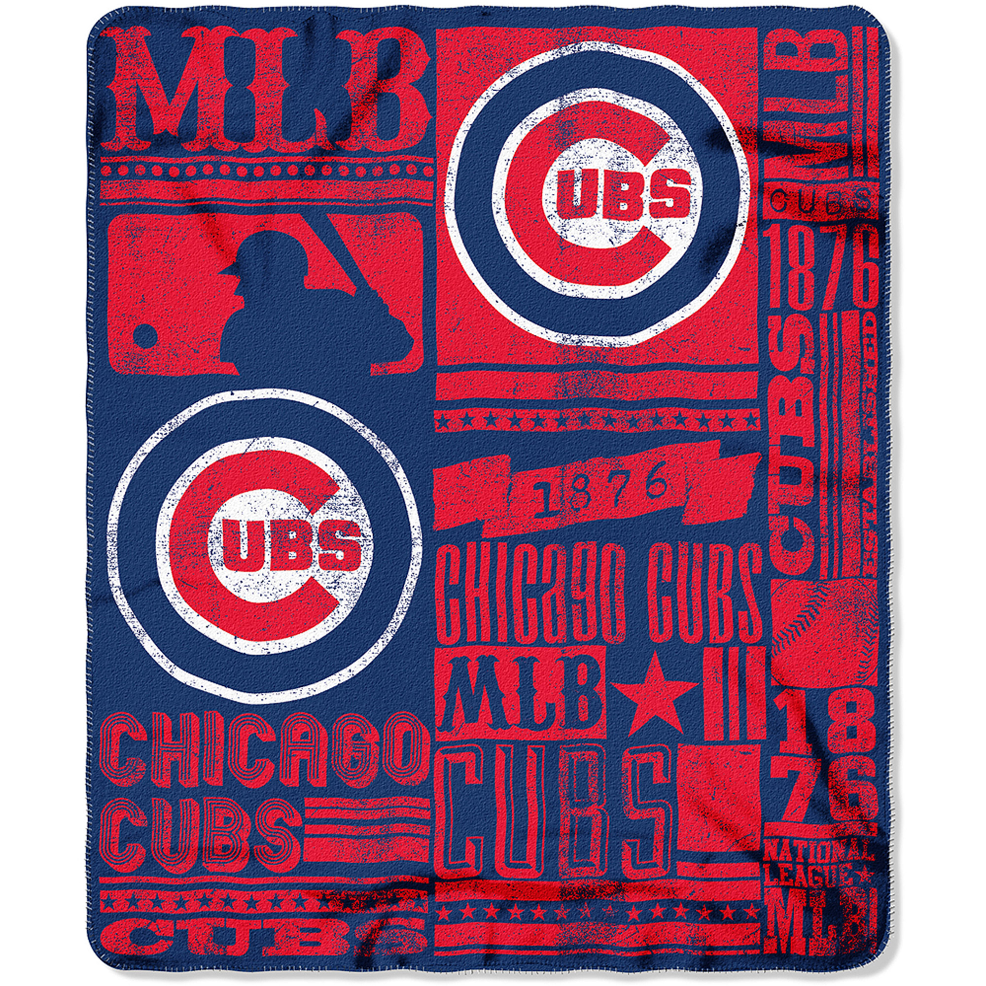 "MLB Chicago Cubs 50"" x 60"" Fleece Throw"