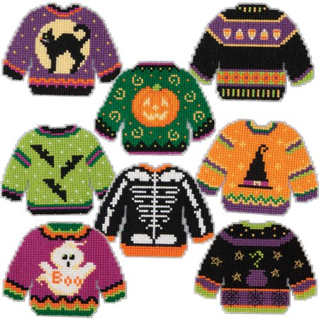 Herrschners® Halloween Sweaters Ornaments Counted Cross-Stitch Kit