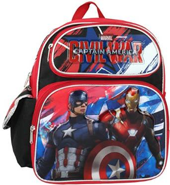 "Small Backpack - Marvel - Captain America Civil War 12"" 657536"