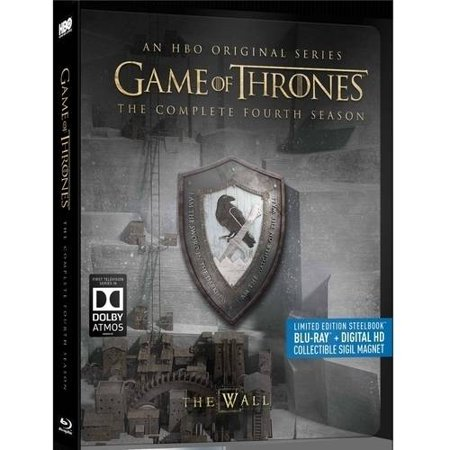 Game Of Thrones  The Complete Fourth Season  Limited Edition Steelbook   Blu Ray   Digital Hd   Collectible Sigil Magnet