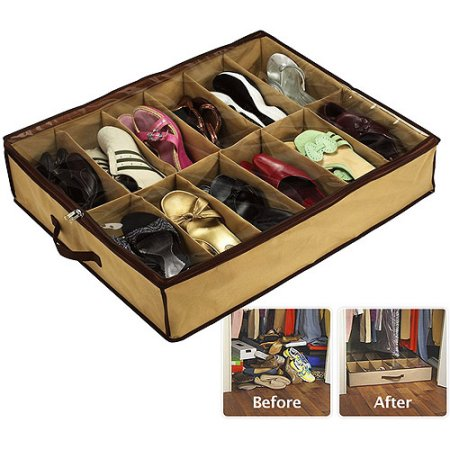 Sto-Away Under Bed Shoe Storage Solution, 2pk