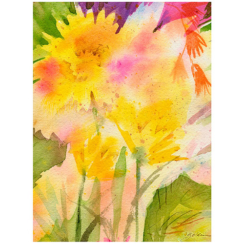 "Trademark Art ""Springtime Floral"" Canvas Wall Art by Shelia Golden"