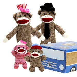 The Sock Monkey Family Multi-Colored