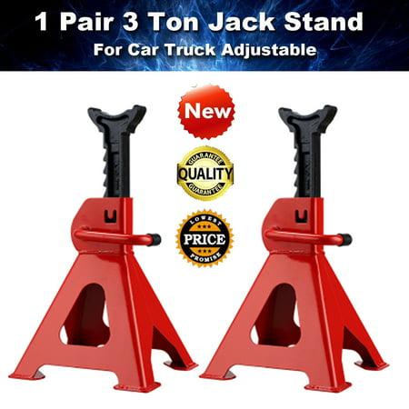 3 Ton 6600lb High Lift Jack Stands 2 Pieces Car Hoisting Jack Auto
